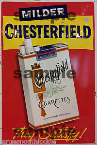 WEATHERED-BUILDING-SIGN-HO-O-DECAL-CHESTERFIELD-CIGARETTES-SIGN-3x2
