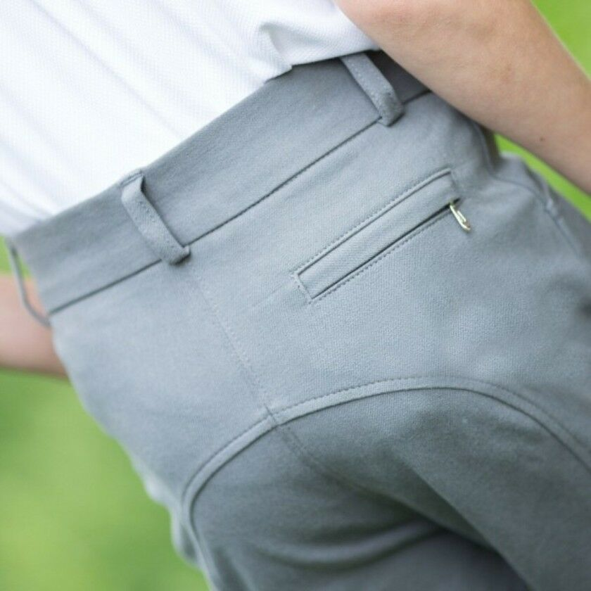 Equetech Boys Sports Breeches Grey Or White Colours