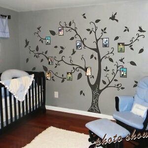 Family-Memory-of-Tree-Bird-Wall-Sticker-Photo-Frame-Vinyl-Removable-Decor-Large