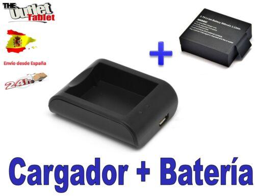 batería 900 mah Cargador Vídeo Cámara DV WIMIUS Q2 Deportiva sumergible