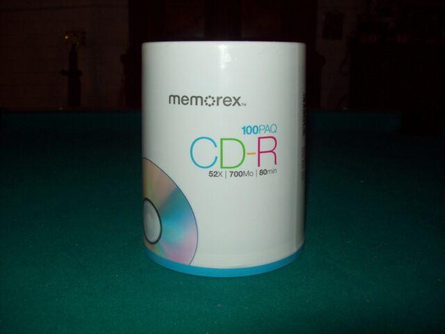 Memorex CD-R 100 PK | 52X | 700MB | 80 Min Brand New Factory Sealed Discs