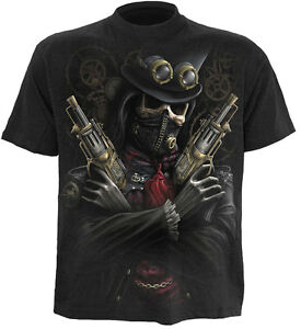 SPIRAL-DIRECT-STEAM-PUNK-BANDIT-T-Shirt-Mask-Skeleton-Skull-Steam-Punk-Goth-Top