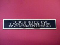 Todd Gurley Rams Nameplate For A Football Jersey Display Case 1.25 X 6