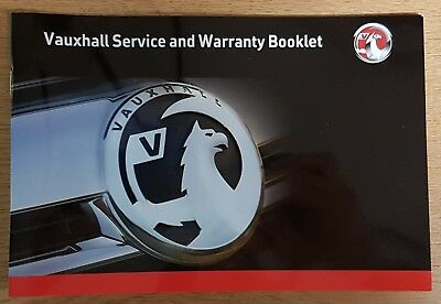 ***GENUINE*** VAUXHALL VIVARO SERVICE AND WARRANTY  BOOK NO SERVICE STAMPS