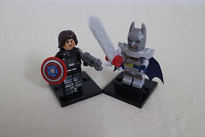 Batman Schwert Marvel 2-set Custom Steine Kraftvoll Captain America Waffe