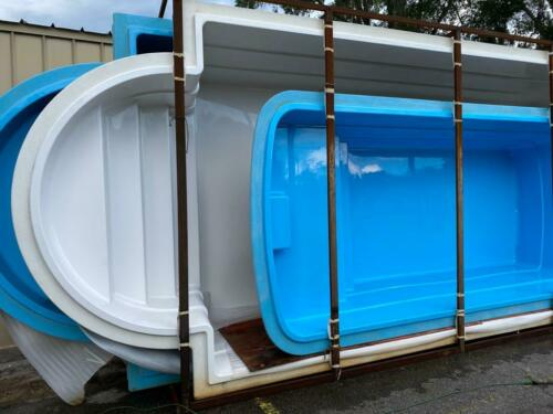 7.2 x 13.1 x 4.3 deep Fiberglass Inground  pool shell Praia 07