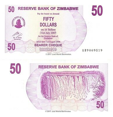 Zimbabwe 50 Dollars 2006 P-41 Banknotes UNC