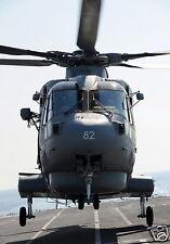 RAF Merlin Helicopter RFA Argus 820 Naval Air Sqd 2011 Reprint Photo 12x8 inch