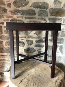 Mahogany-Wood-Folding-Rectangular-Removable-Serving-Tray-Table