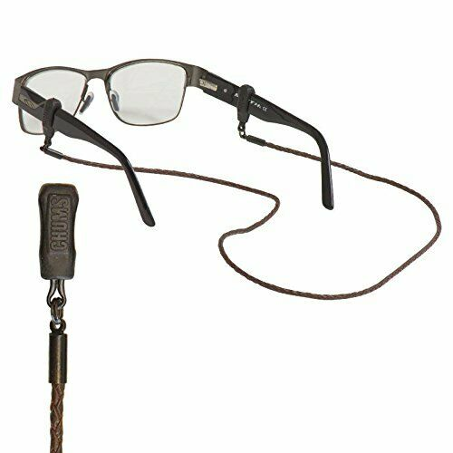 Chums Braided Leather Eyewear Retainer Brown