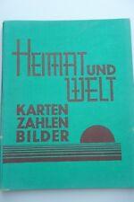Atlas - Heimat und Welt Karten Zahlen Bilder  - Lehrerverein Leipzig   1929 Y