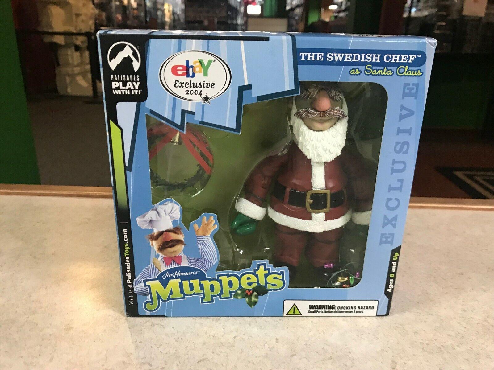 2004 Palisades The Muppet Show SWEDISH CHEF CHEF CHEF as SANTA CLAUS Ebay Only Figure NIB da39eb