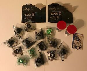TACO-BELL-STAR-WARS-VINTAGE-LOT-SEALED-1996-TRILOGY-TOYS-BOXES-CUPS-WOW
