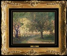 JOHANN BERTHELSEN RARE Original OIL PAINTING on BOARD Signed New York City Art
