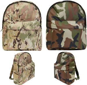 Kids-Boys-Army-Military-MTP-Backpack-DPM-Camo-Rucksack-School-Sports-Bag-15L-New