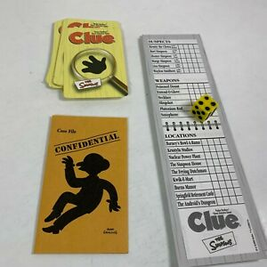 The-Simpsons-Clue-Game-Replacement-Pieces-Pad-Cards-Envelope-Dice-1st-Edition