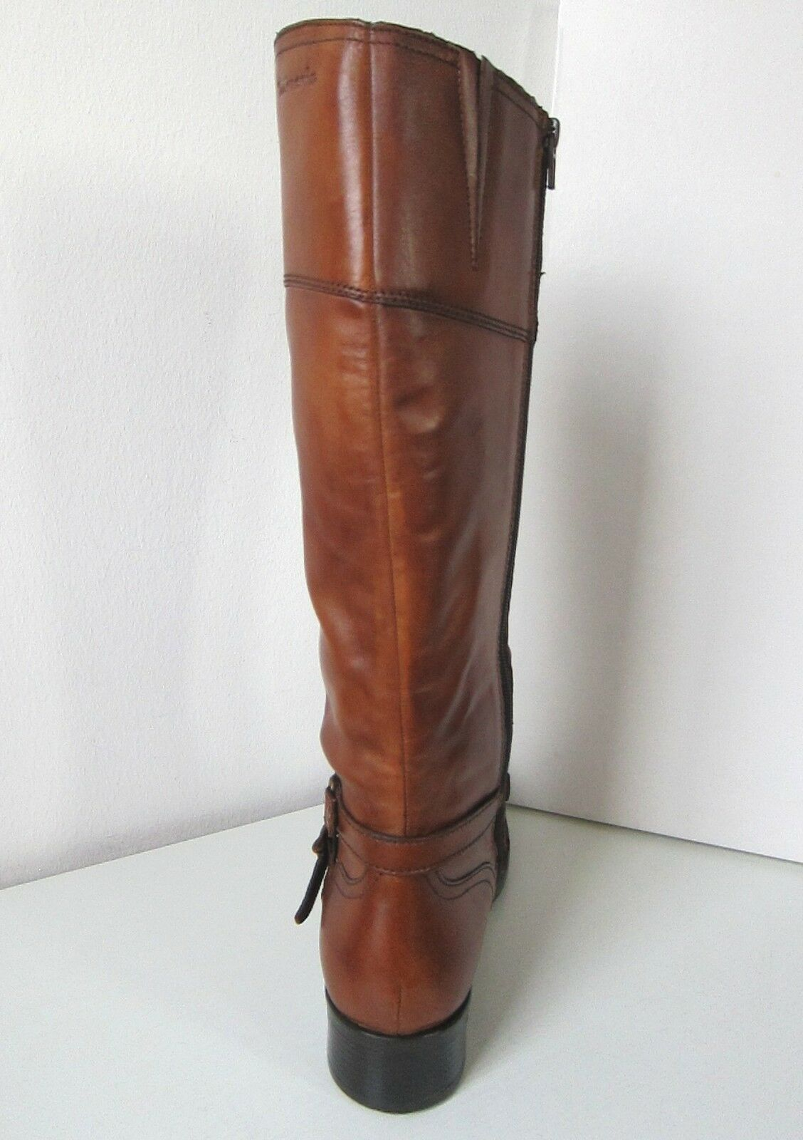 Tamaris Tamaris Tamaris cuero Cabálgala botas con nuez moscada cognac Leather Boots Light Brown marrón 216873