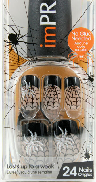 imPress Press On Manicure Halloween Edition Spider Web ...