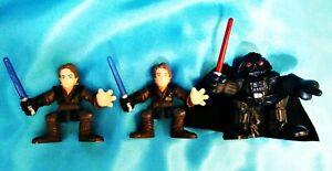 Set-of-3-ANAKIN-DARTH-VADER-LFL-Hasbro-Galactic-Heroes-Star-Wars-Toy-Figure