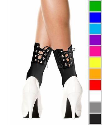 Sheer Flower Ankle High Socks Music Legs 544