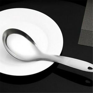 Stainless-Steel-Dinner-Spoon-Tableware-Long-Handle-Rice-Soup-Spoon-Utensil-BB