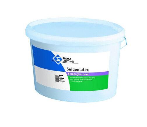 SIGMA Seidenlatex 12,5 Liter weiß +++seidenglänzende Kunststoffdispersionsf.+++
