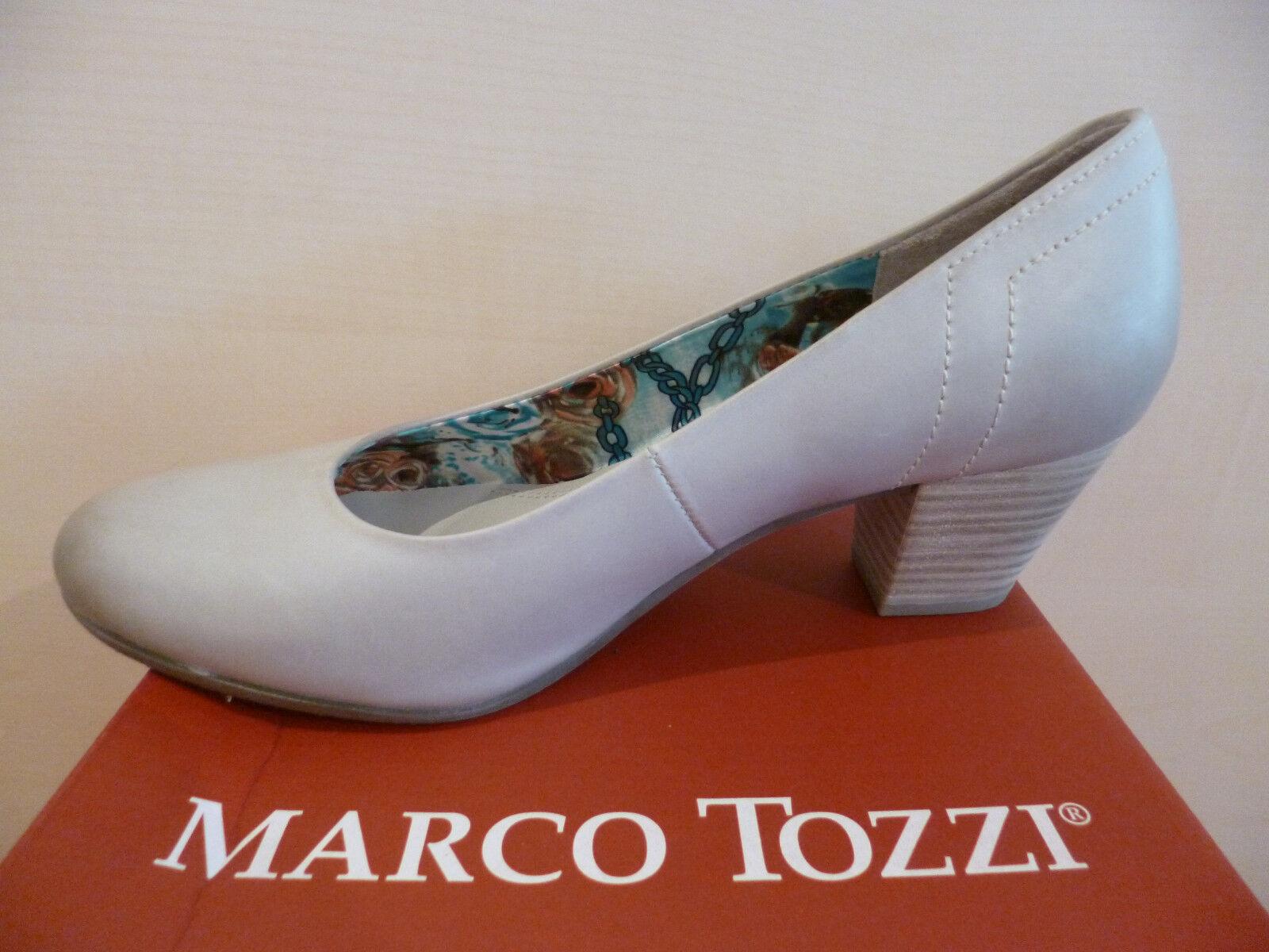 Marco Tozzi ballerina   Pantofole di ballerina Tozzi grigio vera pelle NUOVO 08f6f1