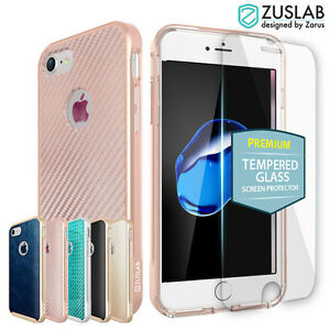 iPhone-8-7-Plus-6s-SE-Case-for-Apple-Zuslab-X-Bumper-Cover-Tempered-Glass-Screen