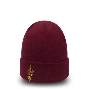 New Era Cleveland Cavaliers NBA Beanie Hat Team Essential Cuff ... 79f9b9cf8602