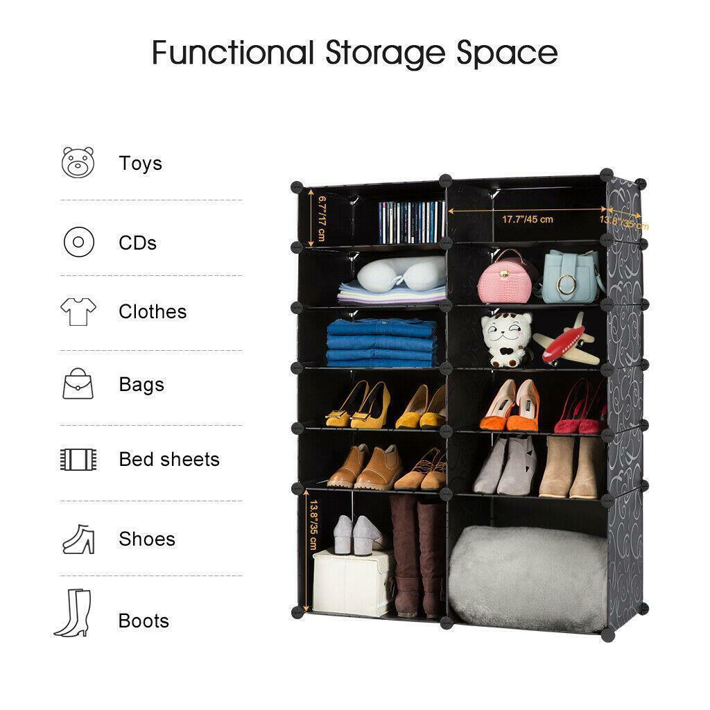Diy 13 Cube 24 Pair Space Saving Portable Shoe Storage Cabinet For Sale Online Ebay