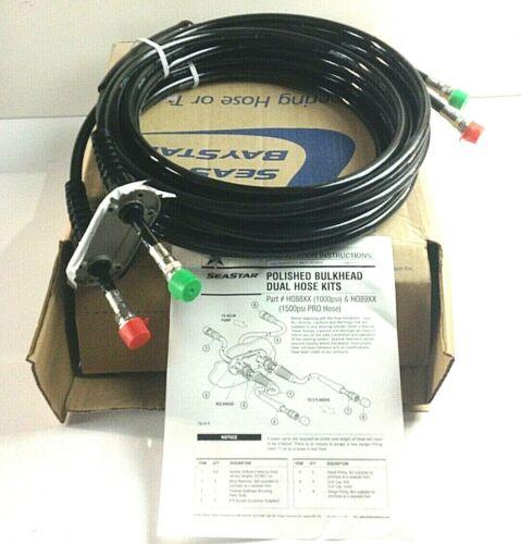 SeaStar Double Stainless Steel Bulkhead Hose Kit 22ft 2 hoses HO8822