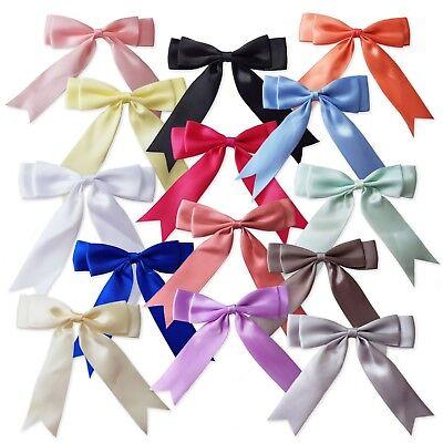 Appliques,Trimmings UK-Large,Baby Pink Satin Ribbon Flowers Wedding 90mm x 1