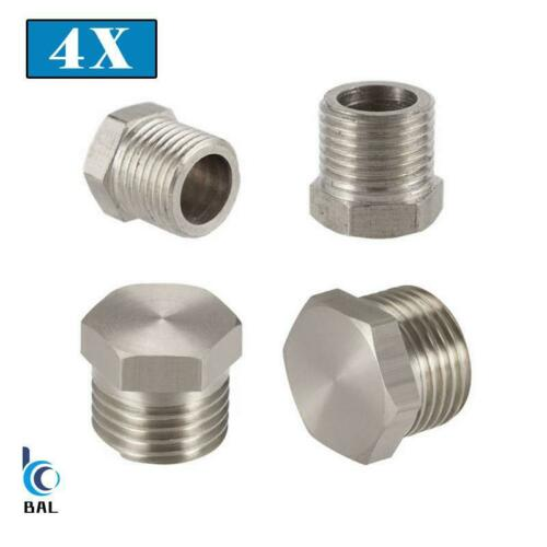 """1//8/"""" 1//4/"""" 3//8/"""" 1//2/"""" Male Thread Stainless Steel Hex Plug Pipe Fitting Connector"""