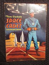 1950's Tom Corbett SPACE CADET Coloring Book UNCOLORED Saalfield GD 11x15""