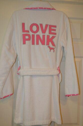 Victoria's Secret  Love Pink Terry Cloth Robe