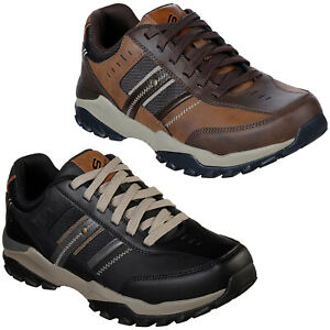 Delwood Trainers Mens Leather Lace Up