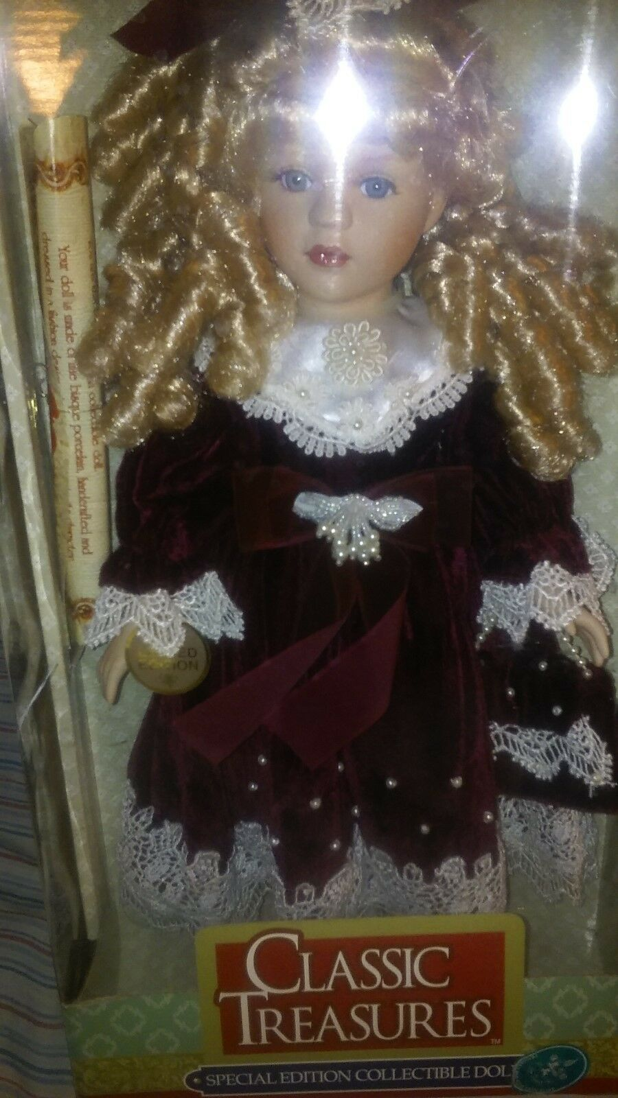 PORCELAIN Treasure SPECIAL EDITION Collectible Dolls GENUINE Bisque