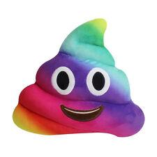 Rainbow Poo Caca emoji en forma suave felpa almohada Cojín 35cm