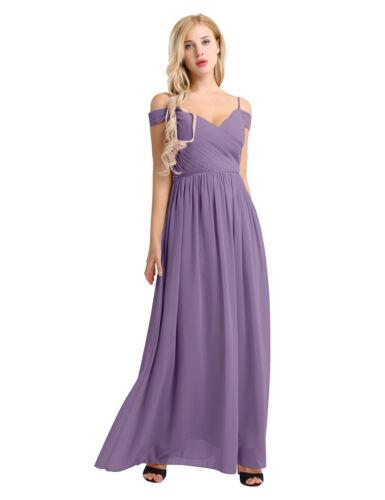 Women/'s Off Shoulder Formal Long Maxi Evening Party Cocktail Bridesmaid Dress