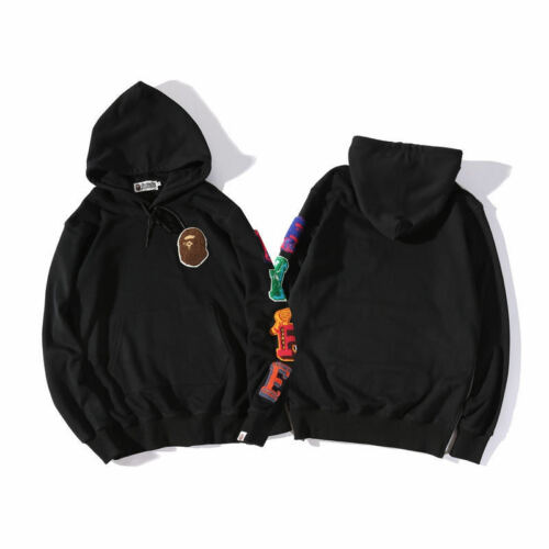 Mens A Bathing Ape Bape Monkey Head Casual Hoodie Pullover Long-sleeved Sweater
