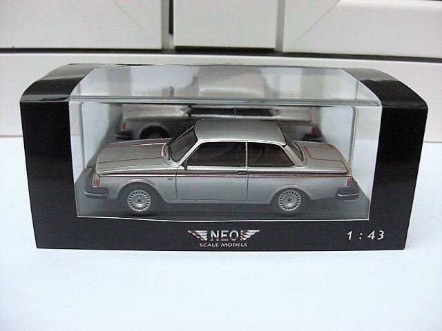 Volvo 242 gt 1978 silver neo 43820 mib 1 43 saab 144 740 244 beautiful very rare