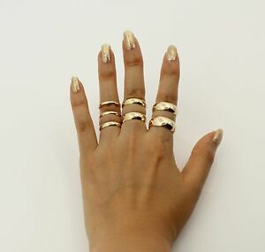 14k Solid Real Authentic Yellow Gold Classic Plain Wedding