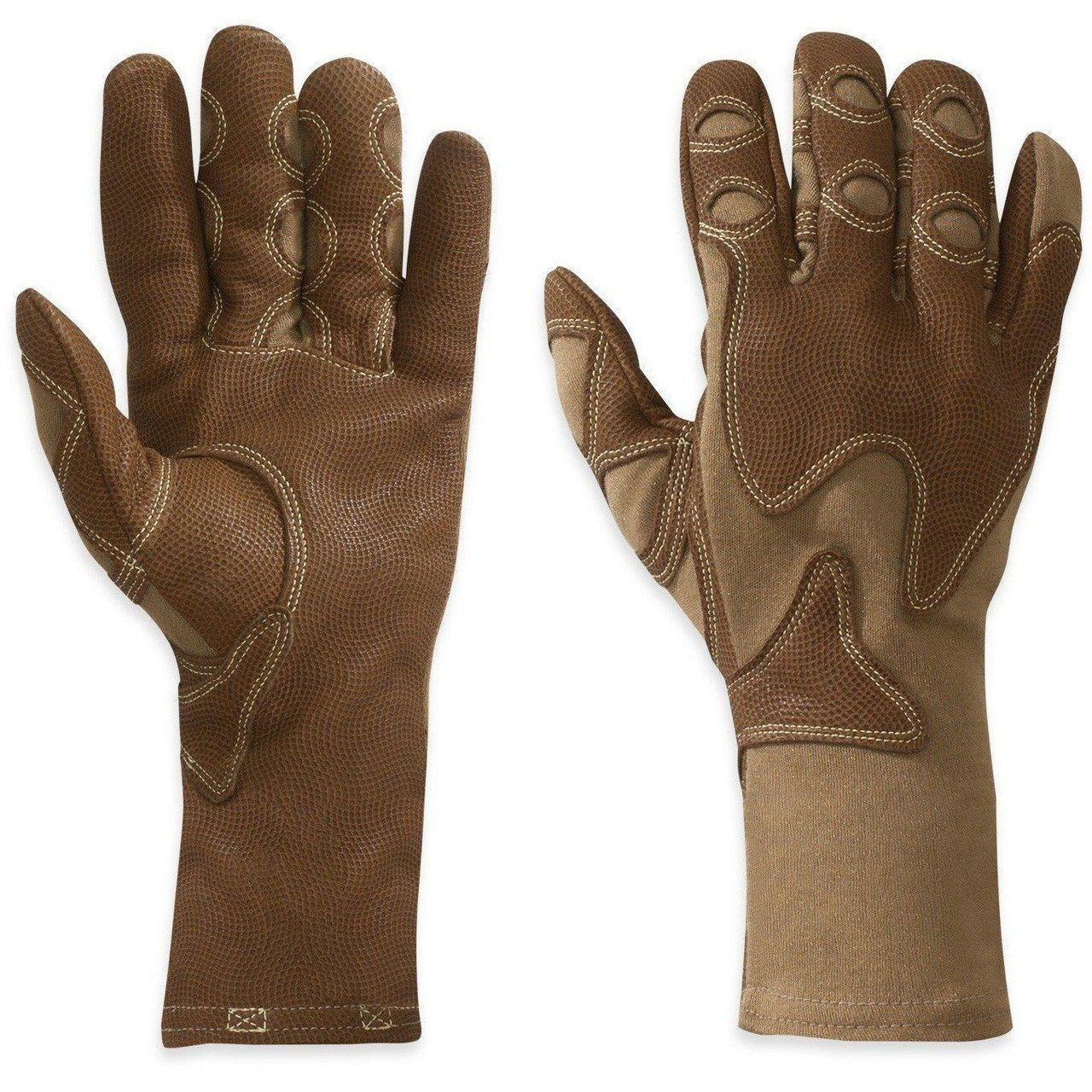 Outdoor Research Overlord Guantes Coyote Marrón Hecho en USA