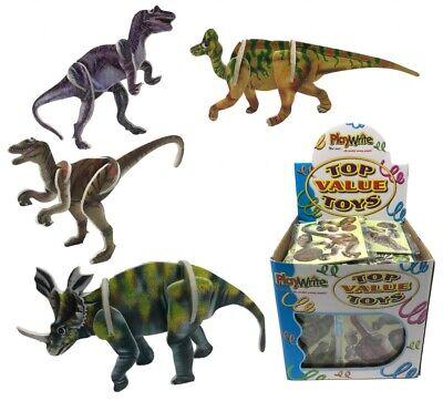 12-kit Puzzle Dinosauro 9x7cm. Party Bag Filler Giocattolo.-mostra Il Titolo Originale Buono Per L'Energia E La Milza
