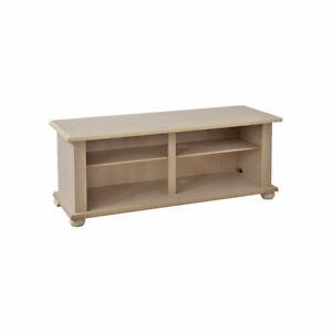 Mobile porta tv 120x42x50 h in legno grezzo da verniciare anche per decoupage ebay - Verniciare una porta in legno ...
