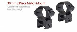 Hawke-Match-30mm-High-Weaver-Picatinny-Base-Scope-Mount-Rings-HM7212-22117