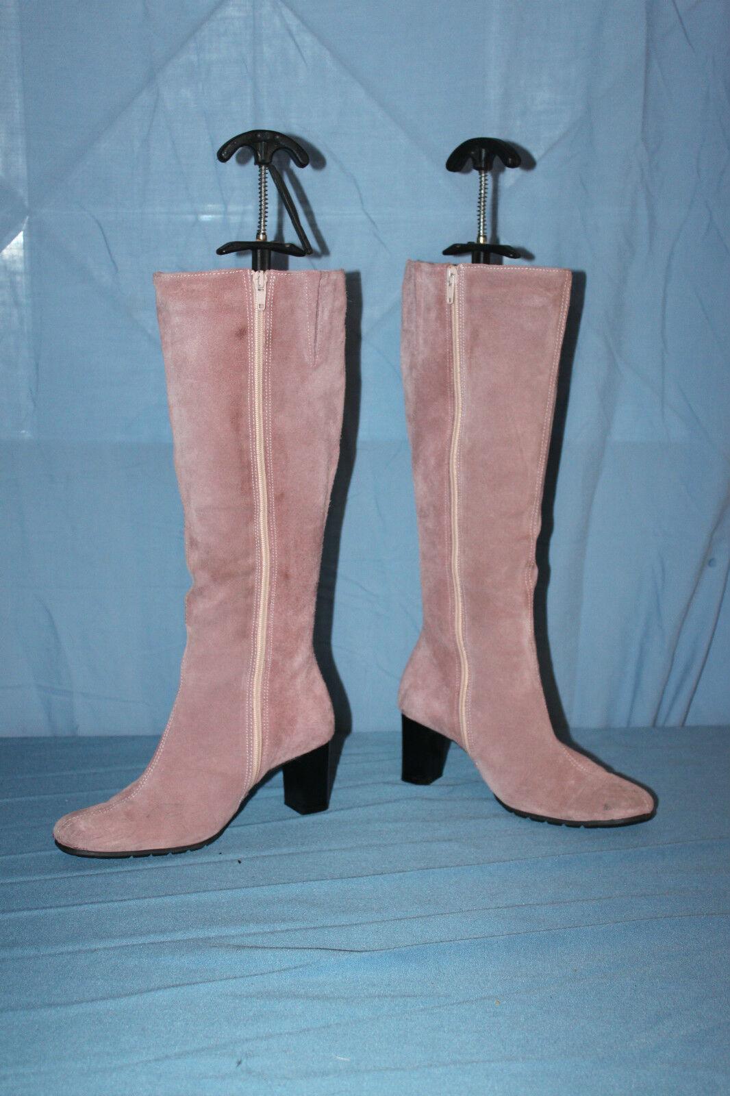 Bottes pink LIPTY Daim pink pâle T 35 BE