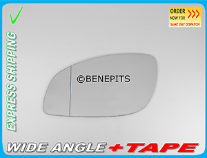 TAPE Left Side //F021 Wing Mirror Glass  Aspheric For OPEL VECTRA C 2002-2009