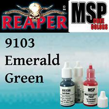 EMERALD GREEN 9103 - MSP 15ml 1/2oz paint pot peinture figurine REAPER MINIATURE