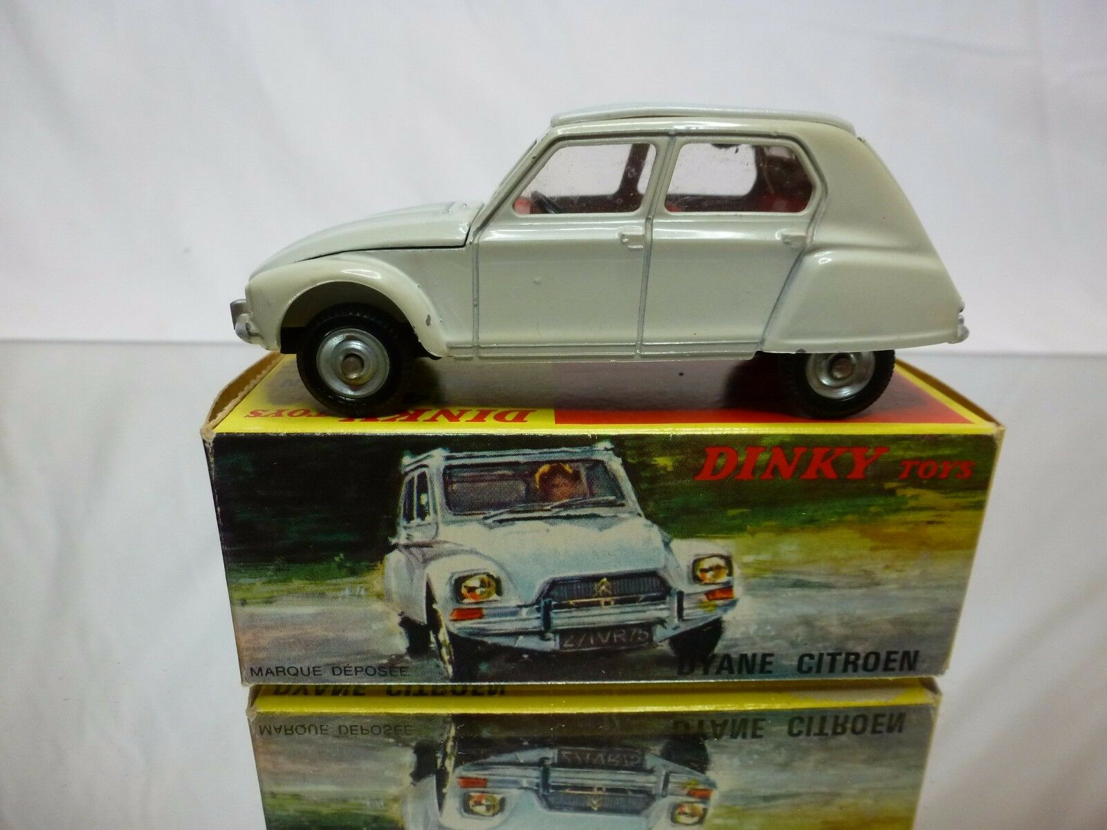 DINKY TOYS  FRANCE 1413 CITROEN DYANE - CREAM 1 43 - GOOD CONDITION IN BOX